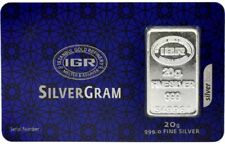 1 X 20  gram Fine Silver Bullion Bar 999 Istanbul Gold Refinery certificated