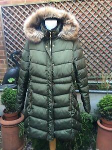 PAPAYA hooded puffer bubble parker coat women's ladies size 16