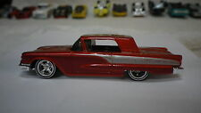 2005 Hot Wheels Red Orange 58 Ford Thunderbird T-Bird Custom Real Riders