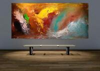 Großes Acryl Gemälde XXL Modern CHP1132 Handgemalt Bild Kunst Abstrakt 210x100