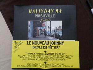 Coffret 2 LP Johnny HALLYDAY à Nashville 84 Complet