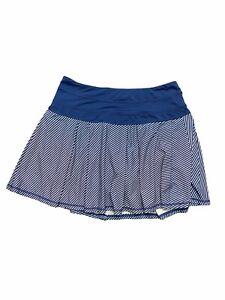 Kyodan Activewear Tennis Striped Pleated Pockets Elastic Waist Skort Size Medium