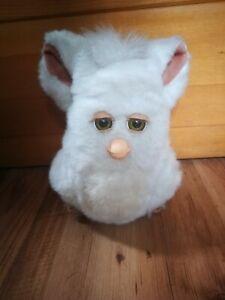 Furby 2005 Tiger White snowball 59294 Green eyes - WORKS