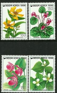 South Korea 1996 Wild Flowers set of 4 MNH