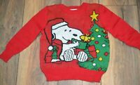 Snoopy & Woodstock Christmas Sweater Jumping Beans Toddler Boys Sweater