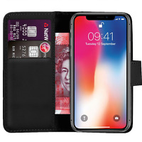 Case Cover For Apple iphone X  10 Magnetic Flip Leather Wallet Phone book stand