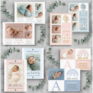 Personalised Baby Thank You Cards • Photo Birthday Thank You Cards • New Baby