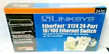 Cisco Linksys EF3124 Ethernet Switch 24 Ports w/ rack ears and power cord NEW