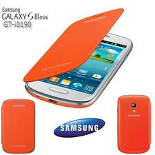 Original Samsung i8190 Galaxy S3 Mini Flip Cover Case Tasche Akku Deckel Orange
