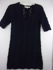 VANESSA BRUNO ATHE Womens Sweater Dress Knit Navy  sz Medium