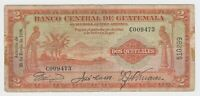 Guatemala Banco Central 2 Quetzal 1936 P15a First Date F Rare Signature + Serial