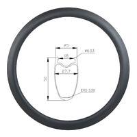 425g Only Super light 700c 50mm tubeless U shape road carbon rim 25mm wide rim
