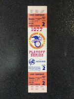 1977 New York Yankees Game 2 Playoff Ticket - Intact - Free Shipping