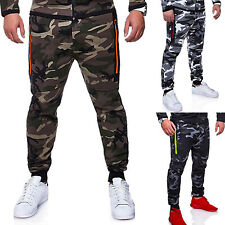Men Camo Jogging Sweatpants Gym Sports Casual Outdoor Dance Trousers Slim Pants