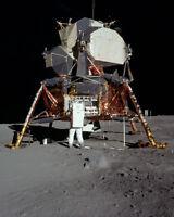 Apollo 11 Lunar Moon Landing Mission NASA Astronaut Buzz Aldrin Photo