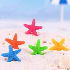 5pcs Fish Tank Resin Artificial Colorful Starfish Decoration Aquarium Ornaments