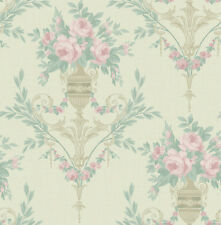 Floral Vintage Wallpaper Pink Cream Green Cream Victorian Chinoiserie Sample Too