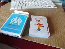 jeu de cartes olympique de marseille - neuf film de garantie