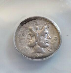 Roman Republic M. Furius Philus Denarius ANACS F15 Ancient Silver Coin