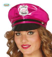 Cappello Vinile Rosa Donna Poliziotta Polizia Carnevale Teatro Addio al Nubilato