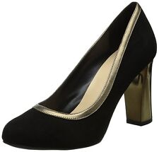 $180 Cole Haan Edie High Party Pump Heel Suede Shoes Womens Black 7 NEW IN BOX