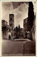 Ravello Italien s/w AK 1937 Campanile ed Ingresso al Palazzo Rufolo Glockenturm
