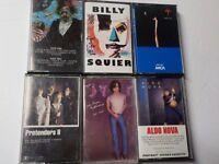 Lot of (6) 70's 80's Rock CASSETTES Steely Dan Pretenders Joe Walsh Mellencamp