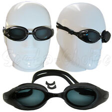 2c9af8f318 Black UV Nearsighted Prescription Corrective Optical RX Lenses Swimming  Goggles