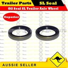 Superior 2 x Oil Seals to suit Ford SL bearings - Trailer Axle Wheel Hub