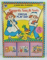 Whitman Raggedy Ann & Andy Circus Play Day Paper Dolls Unused Uncut 1980