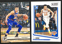 Lot (2) Kevin Knox 2019 Panini Chronicles Rookie Card #105 & Score Base Knicks