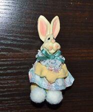 "3.5"" Bunny Rabbit Ornament Hard Head soft body"