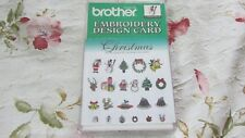 NEW/SEALED Brother/Deco (Not 300 Series) Embroidery Card CHRISTMAS OOP