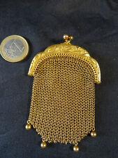 bourse maille porte monnaie soudé or premier titre fin fin XIXéme femme