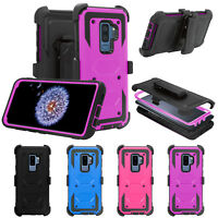 For Samsung Galaxy S9 Plus Holster Heavy Duty W/Kickstand Belt Clip Case Cover