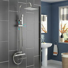 Thermostatic Exposed Shower Mixer Valve Bathroom Temperature Shower Faucet Set