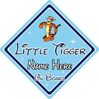 Personalised Little Tiger On Board Car Sign – Disney Winnie The Pooh Tigger