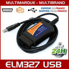 Câble Interface ELM 327 OBD2 II USB V1.5 Diagnostique Auto Multimarques