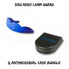🔥 SISU AERO Guard 1.6mm Adult Mouthguard (Royal Blue) & Case Bundle
