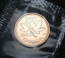 RCM - 1988 - 1-cent - Proof Like - Uncirculated - Sealed in original cellophane