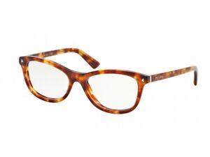 Eyeglasses Prada PR 05RV JOURNAL havana 4BW1O1 Authentic