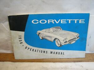 1958 Corvette Operations Manual Auto Car 2nd Edition Chevrolet Chevy Book Owners