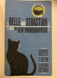"Belle and Sebastian & New Pornographers 2006 Gig Poster Indi Rock Art 14x10"" 189"