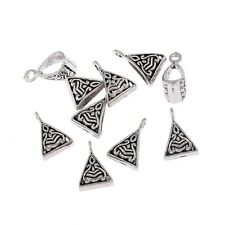 10pcs Bails Triangle Hole Beads Charms Tibetan Silver Pendant Fit DIY 10*10mm