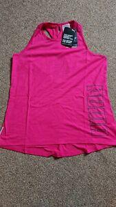 Puma Twist It Logo Tank Vest, Pink, Brand New With Tags,