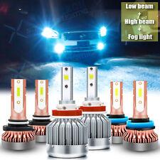 8000K Ice Blue LED Headlight + Fog Light Bulb for Nissan Maxima Juke Titan Rogue
