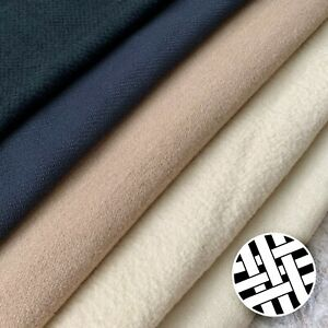 Poly Wool Fabric Plain Colours - Sold by the Meter