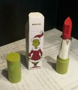 NEW Kylie Cosmetics x The Grinch Lipstick MEAN ONE- SOLD OUT-NIB!