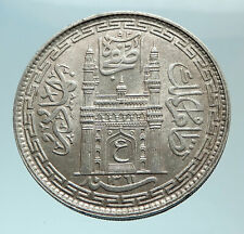 1942 INDIA Princely States Hyderabad ALI KHAN Silver RUPEE Indian Coin i78829