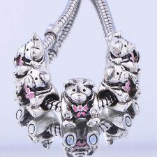 5pcs LOT Authentic cute Bear European charms beads Fit charm Bracelet vogue